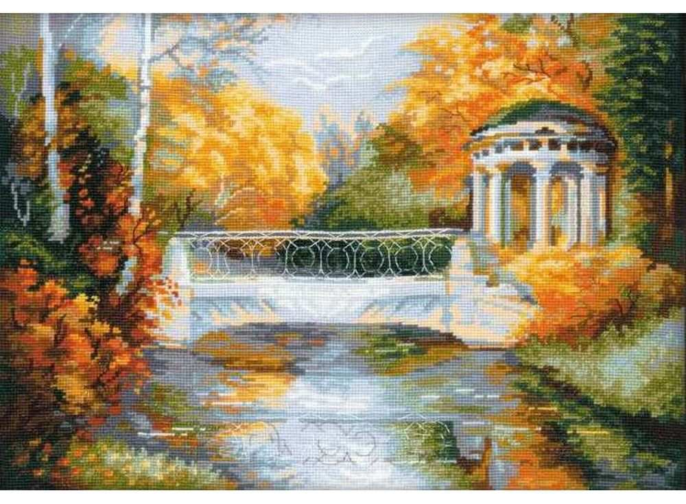 Набор для вышивания «Осенний парк»Вышивка крестом Риолис<br><br><br>Артикул: 1195<br>Основа: канва 14 Aida Zweigart<br>Размер: 40х30 см<br>Техника вышивки: счетный крест<br>Серия: Риолис (Сотвори Сама)<br>Тип схемы вышивки: Цветная схема<br>Цвет канвы: Белый<br>Количество цветов: 25<br>Художник, дизайнер: Александра Гусарова<br>Заполнение: Полное<br>Рисунок на канве: не нанесён<br>Техника: Вышивка крестом