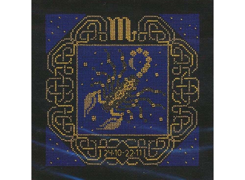 Набор для вышивания «Скорпион»Вышивка крестом Риолис<br><br><br>Артикул: 1208<br>Основа: канва 14 Aida Zweigart<br>Размер: 25х25 см<br>Техника вышивки: счетный крест<br>Серия: Риолис (Сотвори Сама)<br>Тип схемы вышивки: Цветная схема<br>Цвет канвы: Черный<br>Количество цветов: 2<br>Художник, дизайнер: Юлия Красавина<br>Заполнение: Полное<br>Рисунок на канве: не нанесён<br>Техника: Вышивка крестом