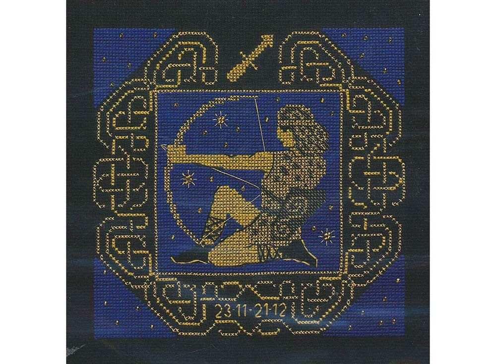 Набор для вышивания «Стрелец»Вышивка крестом Риолис<br><br><br>Артикул: 1209<br>Основа: канва 14 Aida Zweigart<br>Размер: 25х25 см<br>Техника вышивки: счетный крест<br>Серия: Риолис (Сотвори Сама)<br>Тип схемы вышивки: Цветная схема<br>Цвет канвы: Черный<br>Количество цветов: 3<br>Художник, дизайнер: Юлия Красавина<br>Заполнение: Полное<br>Рисунок на канве: не нанесён<br>Техника: Вышивка крестом