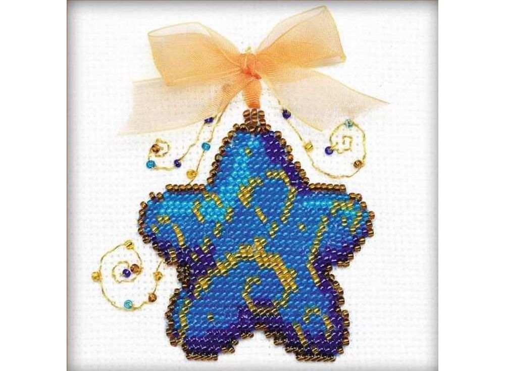 Набор для вышивания вышивки бисером «Волшебная звёздочка»Вышивка смешанной техникой Риолис<br><br><br>Артикул: 1224<br>Основа: канва 14 Aida Zweigart<br>Размер: 10x10 см<br>Техника вышивки: счетный крест+бисер<br>Тип схемы вышивки: Цветная схема<br>Цвет канвы: Белый<br>Количество цветов: Мулине: 1 цвет, бисер: 5 цветов,ленты: 1 цвет<br>Художник, дизайнер: Анна Король<br>Заполнение: Полное<br>Рисунок на канве: не нанесён<br>Техника: Смешанная техника