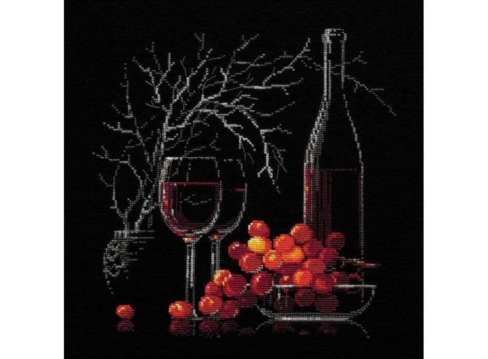 Набор для вышивания «Натюрморт с красным вином»Вышивка крестом Риолис<br><br><br>Артикул: 1239<br>Основа: канва 14 Aida Zweigart<br>Размер: 30х30 см<br>Техника вышивки: счетный крест<br>Серия: Риолис (Сотвори Сама)<br>Тип схемы вышивки: Цветная схема<br>Цвет канвы: Черный<br>Количество цветов: 12<br>Художник, дизайнер: Анна Петросян<br>Заполнение: Полное<br>Рисунок на канве: не нанесён<br>Техника: Вышивка крестом