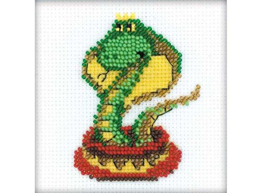 Набор для вышивания вышивки бисером «Королева змей»Вышивка смешанной техникой Риолис<br><br><br>Артикул: 1289<br>Основа: канва 14 Aida Zweigart<br>Размер: 10х10 см<br>Техника вышивки: счетный крест+бисер<br>Тип схемы вышивки: Цветная схема<br>Цвет канвы: Белый<br>Количество цветов: Мулине: 3 цвета, бисер: 5 цветов<br>Художник, дизайнер: Юлия Лындина<br>Заполнение: Полное<br>Рисунок на канве: не нанесён<br>Техника: Смешанная техника