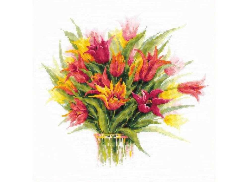 Набор для вышивания «Тюльпаны в вазе»Вышивка крестом<br><br>