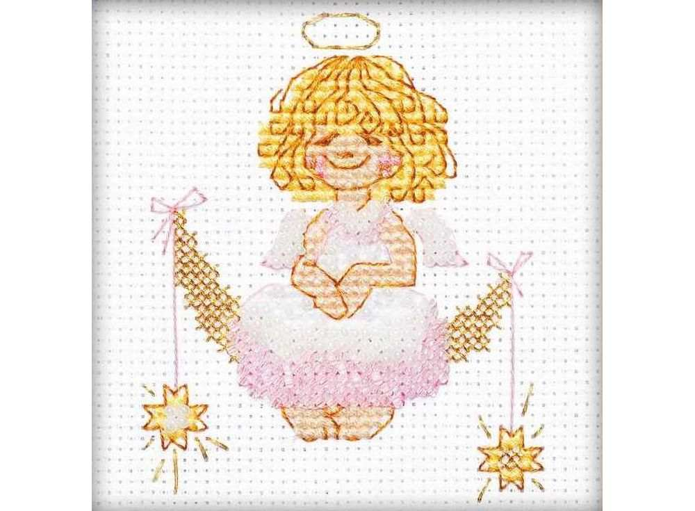 Набор для вышивания вышивки бисером «Ангел»Вышивка смешанной техникой Риолис<br><br><br>Артикул: 1315<br>Основа: канва 14 Aida Zweigart<br>Размер: 10х10 см<br>Техника вышивки: счетный крест+бисер<br>Тип схемы вышивки: Цветная схема<br>Цвет канвы: Белый<br>Количество цветов: Мулине: 5 цветов, бисер: 2 цвета<br>Художник, дизайнер: Галина Скабеева<br>Заполнение: Полное<br>Рисунок на канве: не нанесён<br>Техника: Смешанная техника