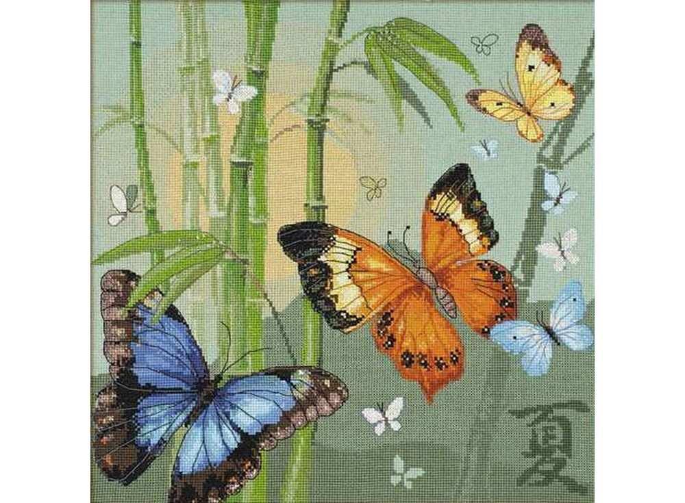 Купить Вышивка крестом, Набор для вышивания «Бабочки», Риолис (Сотвори Сама)