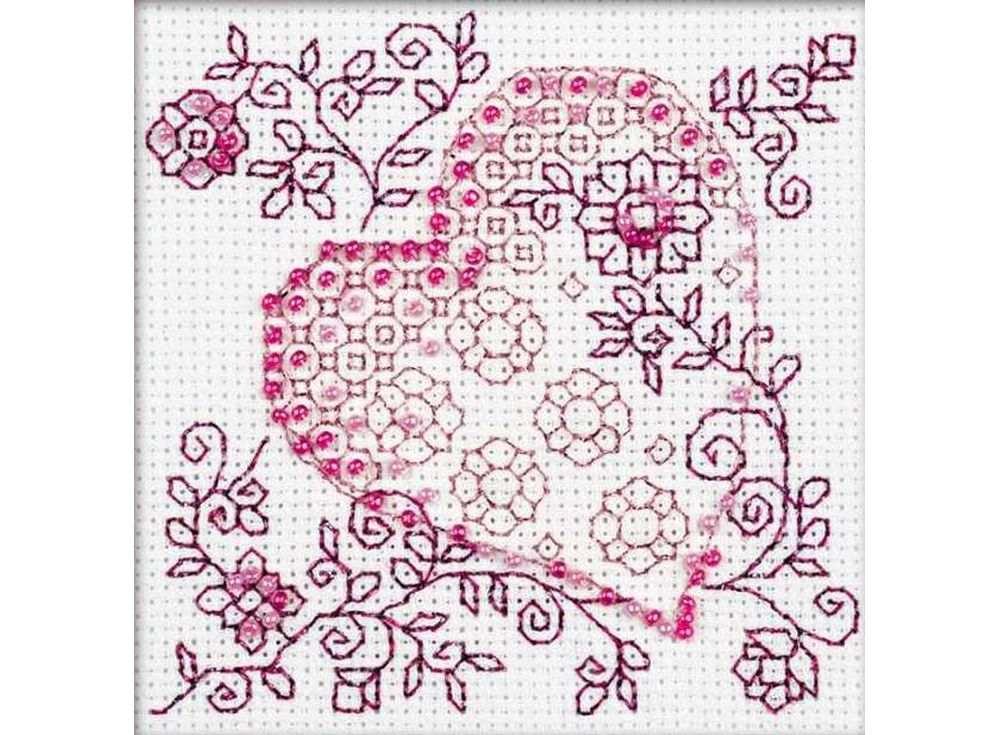 Набор для вышивания вышивки бисером «Нежное сердце»Вышивка смешанной техникой Риолис<br><br><br>Артикул: 1354<br>Основа: канва 14 Aida Zweigart<br>Размер: 10x10 см<br>Техника вышивки: счетный крест+бисер<br>Тип схемы вышивки: Цветная схема<br>Цвет канвы: Белый<br>Количество цветов: Мулине: 3 цвета, бисер: 2 цвета<br>Художник, дизайнер: Юлия Красавина<br>Заполнение: Полное<br>Рисунок на канве: не нанесён<br>Техника: Смешанная техника