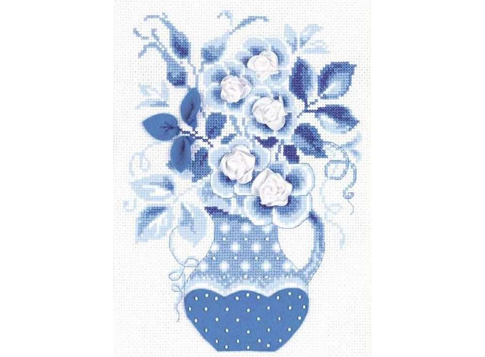 Набор для вышивания «Зимние розы»Вышивка смешанной техникой Риолис<br><br><br>Артикул: 1365<br>Основа: канва 14 Aida Zweigart<br>Размер: 18x24 см<br>Техника вышивки: счетный крест+бисер+ленты+фетр<br>Тип схемы вышивки: Цветная схема<br>Цвет канвы: Белый<br>Количество цветов: Мулине: 5 цветов, бисер: 1 цвет, ленты: 1 цвет, фетр: 1 цвет<br>Художник, дизайнер: Галина Скабеева<br>Заполнение: Полное<br>Рисунок на канве: не нанесён<br>Техника: Смешанная техника