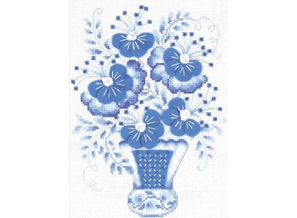 Набор для вышивания «Голубой букет»Вышивка смешанной техникой Риолис<br><br><br>Артикул: 1366<br>Основа: канва 14 Aida Zweigart<br>Размер: 18х24 см<br>Техника вышивки: счетный крест+бисер+ленты+фетр<br>Тип схемы вышивки: Цветная схема<br>Цвет канвы: Белый<br>Количество цветов: Мулине: 5 цветов, бисер: 1 цвет, ленты: 1 цвет, фетр: 1 цвет<br>Художник, дизайнер: Галина Скабеева<br>Заполнение: Полное<br>Рисунок на канве: не нанесён<br>Техника: Смешанная техника