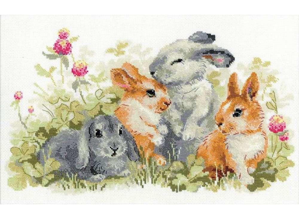 Набор для вышивания «Забавные крольчата»Вышивка крестом<br><br>
