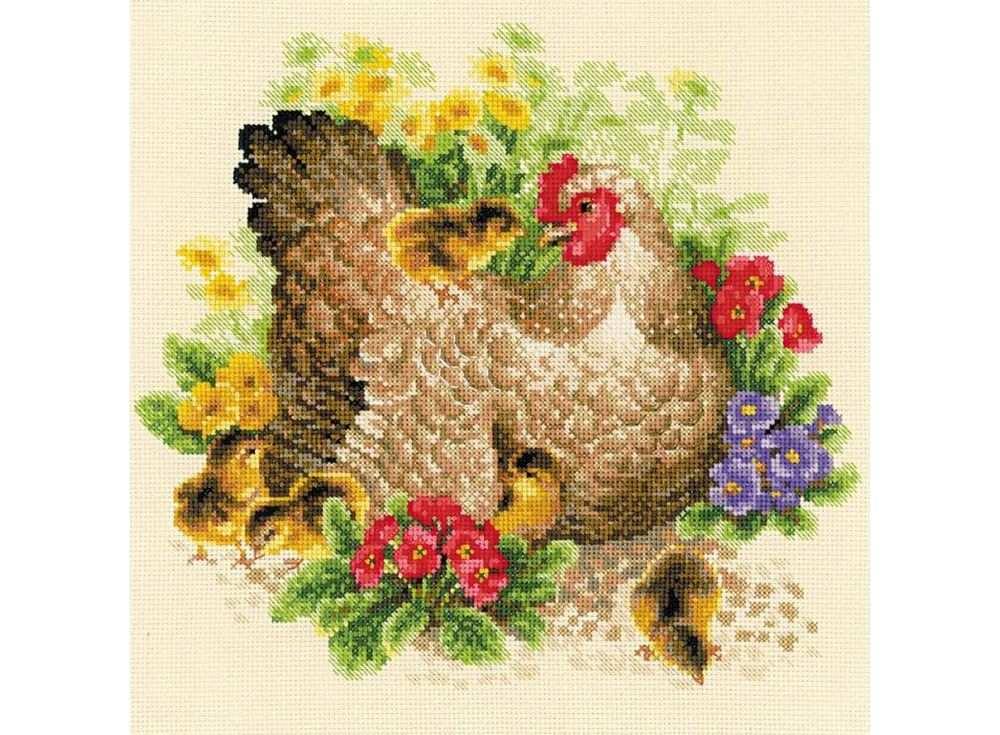 Набор для вышивания «Курица»Вышивка крестом Риолис<br><br><br>Артикул: 1480<br>Основа: канва 14 Aida Zweigart<br>Размер: 30х30 см<br>Техника вышивки: счетный крест<br>Серия: Риолис (Сотвори Сама)<br>Тип схемы вышивки: Цветная схема<br>Цвет канвы: Бежевый<br>Количество цветов: 23<br>Художник, дизайнер: Галина Скабеева<br>Заполнение: Полное<br>Рисунок на канве: не нанесён<br>Техника: Вышивка крестом