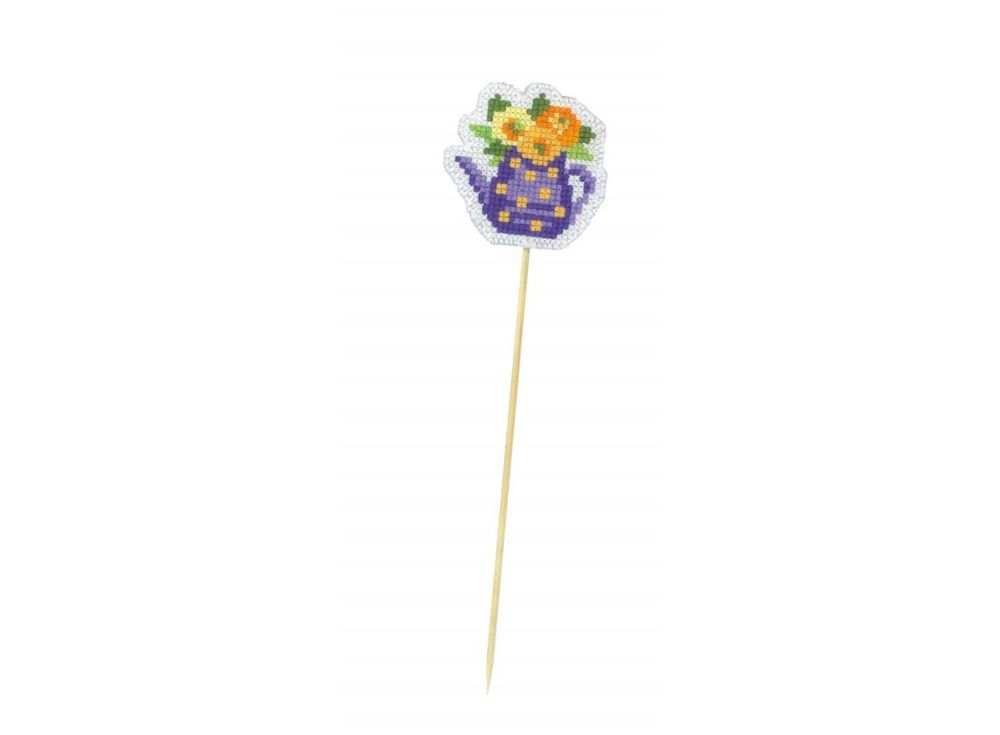 Купить Вышивка крестом, Набор для вышивания «Украшение для цветов. Кувшинчик», Риолис (Сотвори Сама), 5, 5x5, 5 см, 1499АС