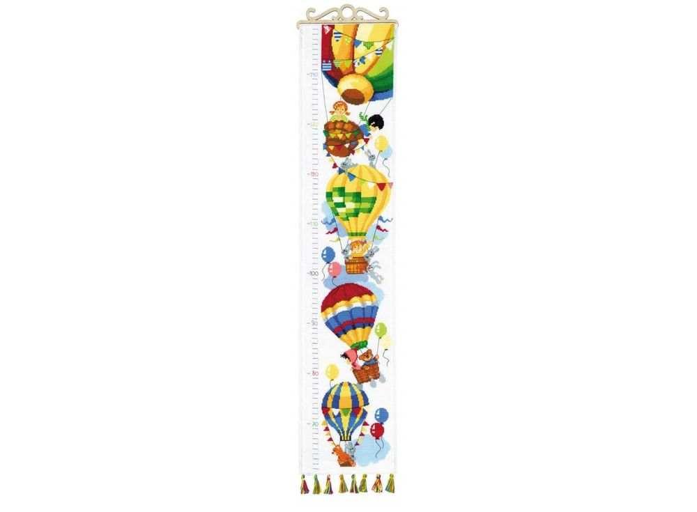 Набор для вышивания «Всё выше и выше»Вышивка крестом Риолис<br><br><br>Артикул: 1507<br>Основа: канва 14 Aida Zweigart<br>Размер: 19х90 см<br>Техника вышивки: счетный крест<br>Серия: Риолис (Сотвори Сама)<br>Тип схемы вышивки: Цветная схема<br>Цвет канвы: Белый<br>Количество цветов: 24<br>Художник, дизайнер: Анна Король<br>Заполнение: Полное<br>Рисунок на канве: не нанесён<br>Техника: Вышивка крестом