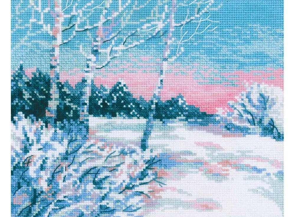 Набор для вышивания «Зимнее утро»Вышивка крестом Риолис<br><br><br>Артикул: 1541<br>Основа: канва 10 Aida Zweigart<br>Размер: 30х24 см<br>Техника вышивки: счетный крест<br>Серия: Риолис (Сотвори Сама)<br>Тип схемы вышивки: Цветная схема<br>Цвет канвы: Белый<br>Количество цветов: 12<br>Художник, дизайнер: Анна Петросян<br>Заполнение: Полное<br>Рисунок на канве: не нанесён<br>Техника: Вышивка крестом