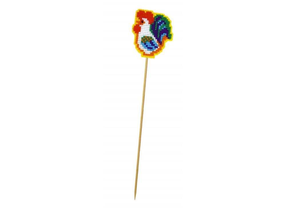 Набор для вышивания «Украшение для цветов. Петушок на палочке»Смешанная техника<br><br>