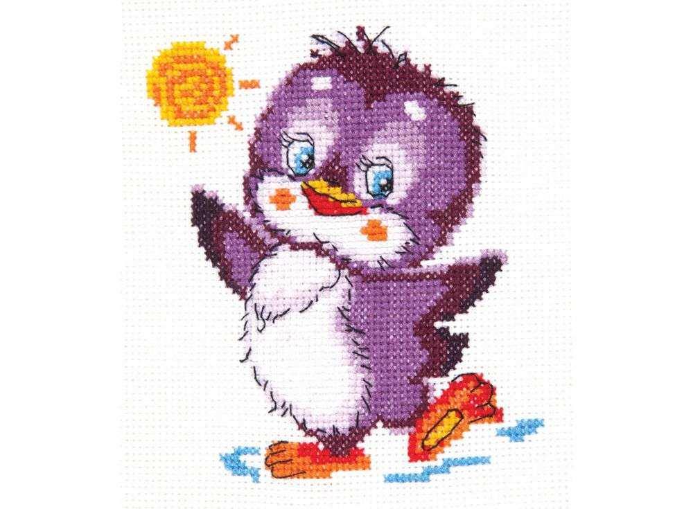 Набор для вышивания «Крошка пингвинёнок»Вышивка крестом Чудесная игла<br><br><br>Артикул: 18-49<br>Основа: канва Aida 14 (хлопок)<br>Сложность: легкие<br>Размер: 11x12 см<br>Техника вышивки: счетный крест<br>Тип схемы вышивки: Цветная схема<br>Цвет канвы: Белый<br>Количество цветов: 11<br>Игла: № 24<br>Рисунок на канве: не нанесён<br>Техника: Вышивка крестом<br>Нитки: мулине 100% хлопок Gamma