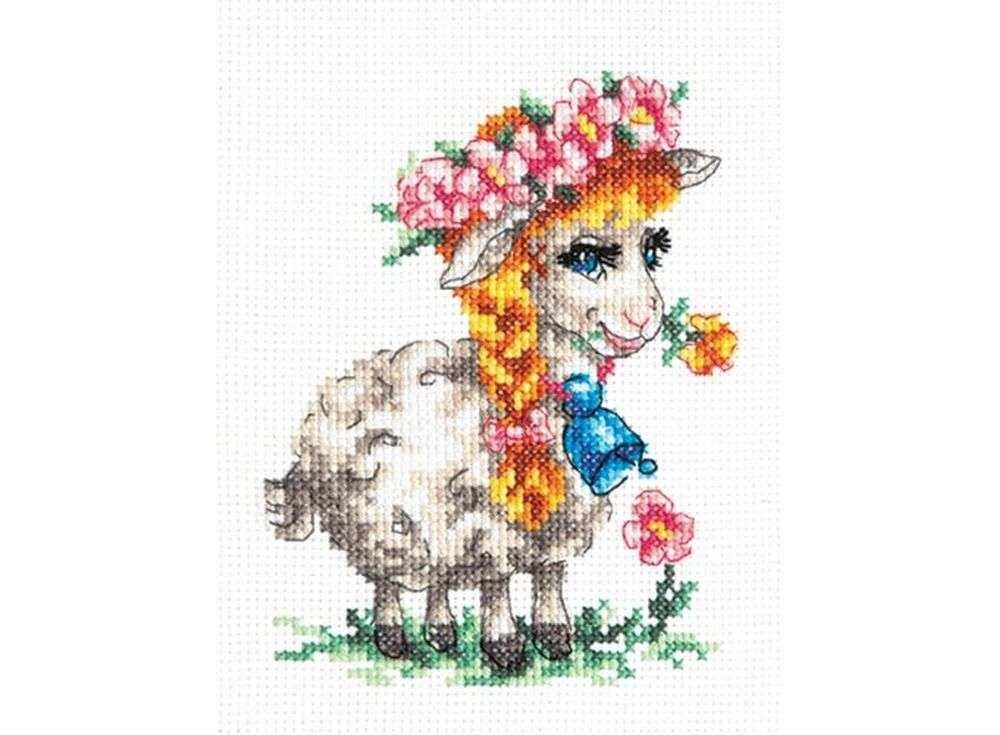 Набор для вышивания «Красавица овечка»Вышивка крестом Чудесная игла<br><br><br>Артикул: 18-81<br>Основа: канва Aida 14 (хлопок)<br>Сложность: легкие<br>Размер: 11х13 см<br>Техника вышивки: счетный крест<br>Тип схемы вышивки: Цветная схема<br>Цвет канвы: Белый<br>Количество цветов: 21<br>Игла: № 24<br>Рисунок на канве: не нанесён<br>Техника: Вышивка крестом<br>Нитки: мулине 100% хлопок Bestex