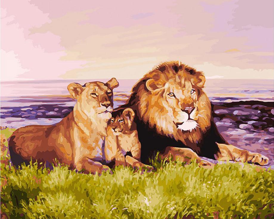 Картина по номерам «Семейство царственных особ» Елены Самарской