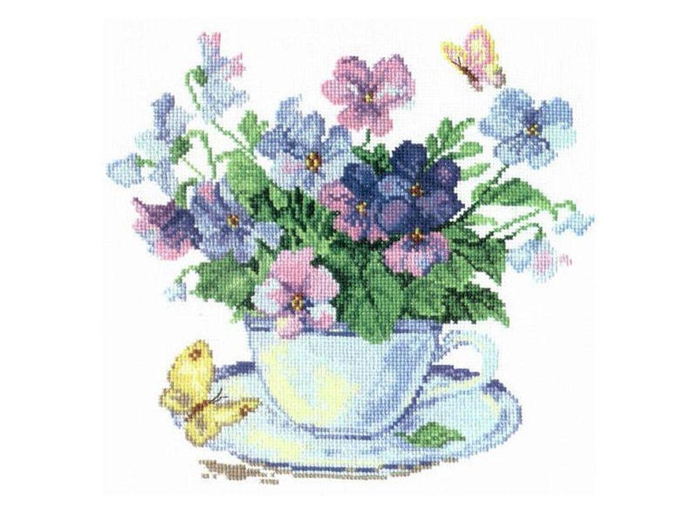Набор для вышивания «Утренние цветы»Вышивка крестом Алиса<br><br><br>Артикул: 2-01<br>Основа: канва Aida 14 100% хлопок Gamma<br>Размер: 24х24 см<br>Тип схемы вышивки: Цветная схема<br>Цвет канвы: Белый<br>Количество цветов: 18<br>Рисунок на канве: не нанесён<br>Техника: Вышивка крестом<br>Нитки: мулине 100% хлопок Gamma