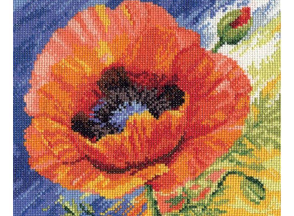 Набор для вышивания «Поцелуй лета»Вышивка крестом Алиса<br><br><br>Артикул: 2-04<br>Основа: канва Aida 14 100% хлопок Gamma<br>Размер: 20х18 см<br>Тип схемы вышивки: Цветная схема<br>Цвет канвы: Белый<br>Количество цветов: 23<br>Рисунок на канве: не нанесён<br>Нитки: мулине 100% хлопок Gamma