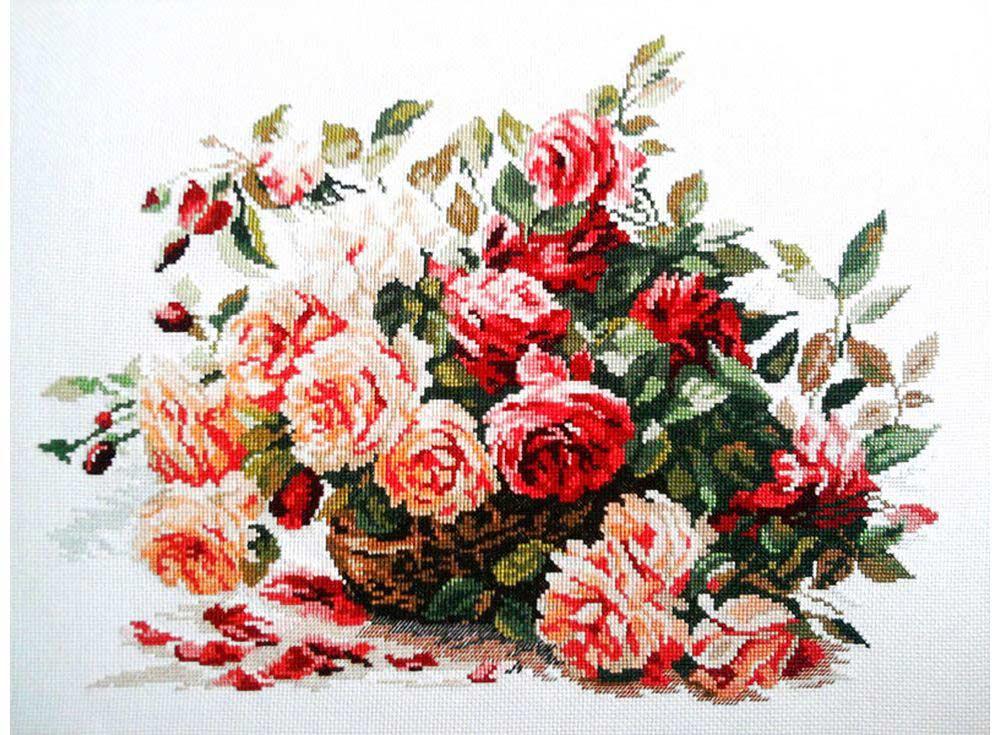 Набор для вышивания «Розы»Вышивка крестом Алиса<br><br><br>Артикул: 2-06<br>Основа: канва Aida 14 100% хлопок Gamma<br>Размер: 40x30 см<br>Тип схемы вышивки: Цветная схема<br>Цвет канвы: Белый<br>Количество цветов: 26<br>Рисунок на канве: не нанесён<br>Техника: Вышивка крестом<br>Нитки: мулине 100% хлопок Gamma