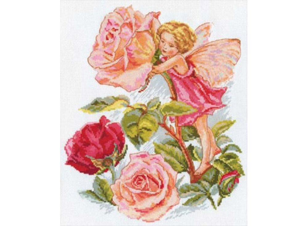 Набор для вышивания «Фея розового сада»Вышивка крестом Алиса<br><br><br>Артикул: 2-07<br>Основа: канва Aida 14 100% хлопок Gamma<br>Размер: 27х33 см<br>Тип схемы вышивки: Цветная схема<br>Цвет канвы: Белый<br>Количество цветов: 25<br>Рисунок на канве: не нанесён<br>Техника: Вышивка крестом<br>Нитки: мулине 100% хлопок Gamma