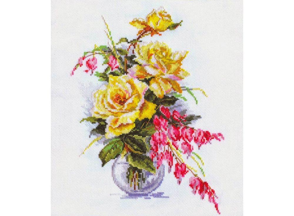 Набор для вышивания «Желтые розы»Вышивка крестом Алиса<br><br><br>Артикул: 2-20<br>Основа: канва Aida 14 100% хлопок Gamma<br>Размер: 21х29 см<br>Тип схемы вышивки: Цветная схема<br>Цвет канвы: Белый<br>Количество цветов: 27<br>Рисунок на канве: не нанесён<br>Техника: Вышивка крестом<br>Нитки: мулине 100% хлопок Gamma