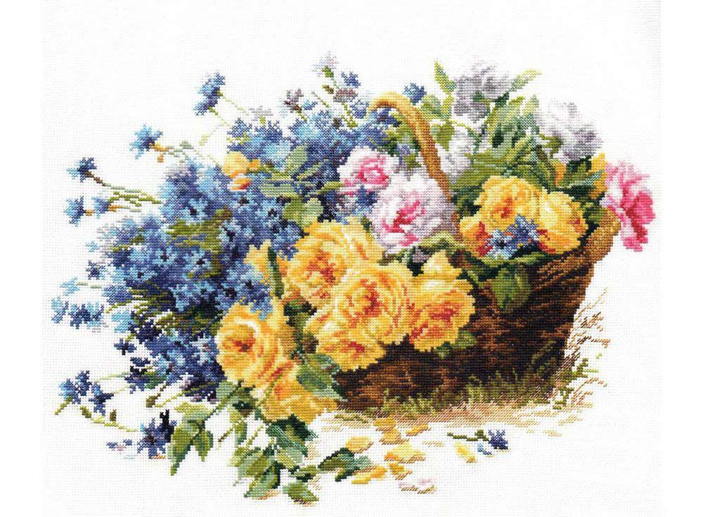 Набор для вышивания «Розы и васильки»Вышивка крестом Алиса<br><br><br>Артикул: 2-27<br>Основа: канва Aida 14 100% хлопок Gamma<br>Размер: 40х30 см<br>Тип схемы вышивки: Цветная схема<br>Цвет канвы: Белый<br>Количество цветов: 40<br>Рисунок на канве: не нанесён<br>Нитки: мулине 100% хлопок Gamma