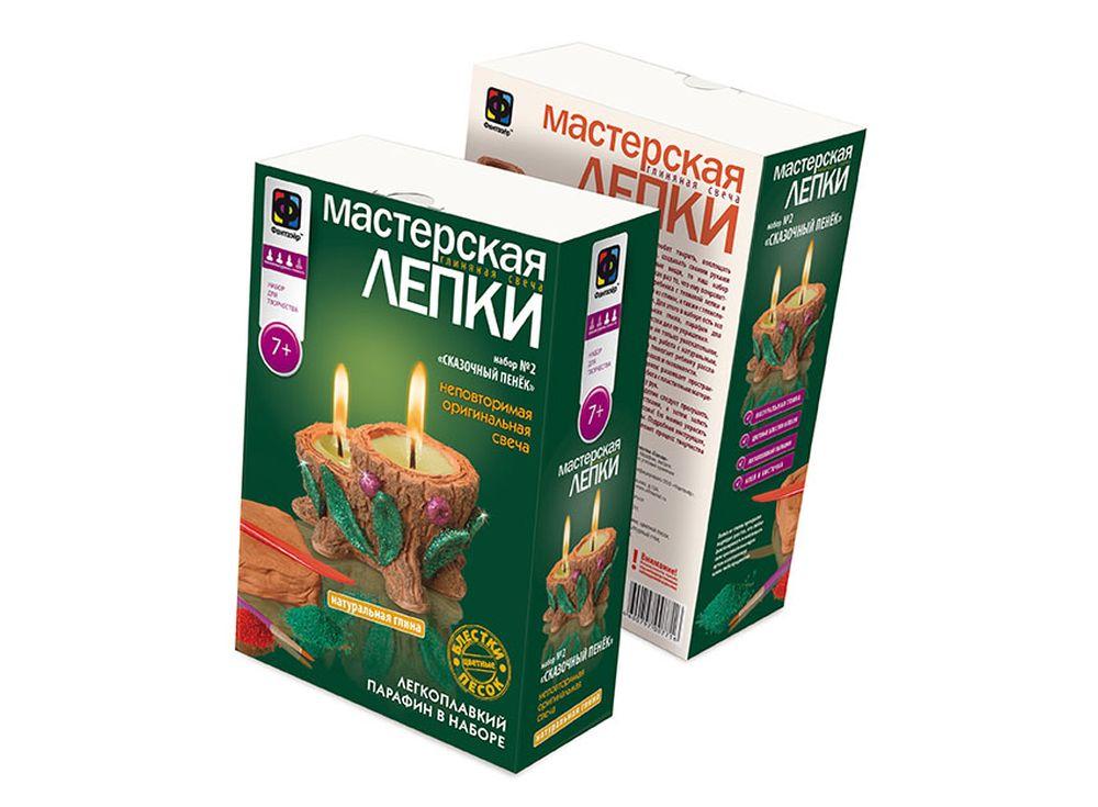 Глиняная свеча «Сказочный пенёк»Глиняные свечи<br><br><br>Артикул: 217022<br>Размер упаковки: 22,5x15,3x7,5 см<br>Возраст: от 7 лет