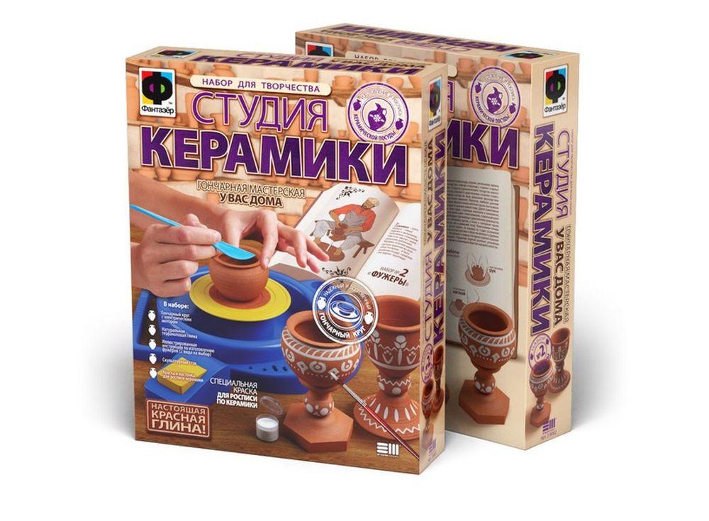 Набор для творчества «Студия керамики. Фужеры»Гончарные наборы<br><br><br>Артикул: 218002<br>Размер упаковки: 45x35x9 см<br>Возраст: от 7 лет