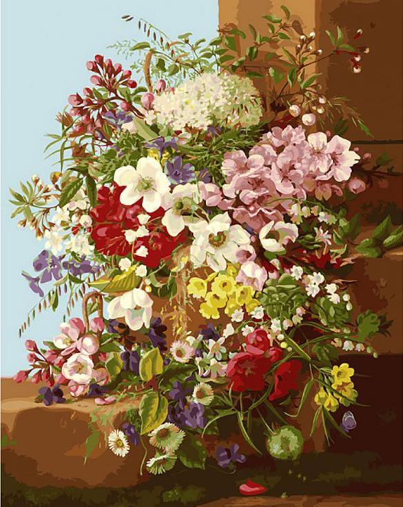 «Свежие цветы»Картины по номерам Белоснежка<br><br><br>Артикул: 252-AB<br>Основа: Холст<br>Сложность: сложные<br>Размер: 40x50 см<br>Количество цветов: 40<br>Техника рисования: Без смешивания красок