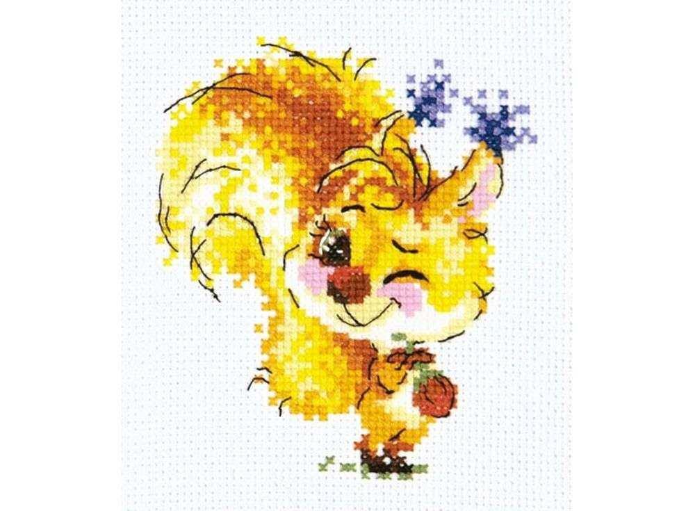 Набор для вышивания «Рыжуля»Вышивка крестом Чудесная игла<br><br><br>Артикул: 26-23<br>Основа: канва Aida 14, 100 % хлопок<br>Сложность: легкие<br>Размер: 10х11 см<br>Техника вышивки: счетный крест<br>Тип схемы вышивки: Цветная схема вышивки<br>Цвет канвы: Белый<br>Количество цветов: 14