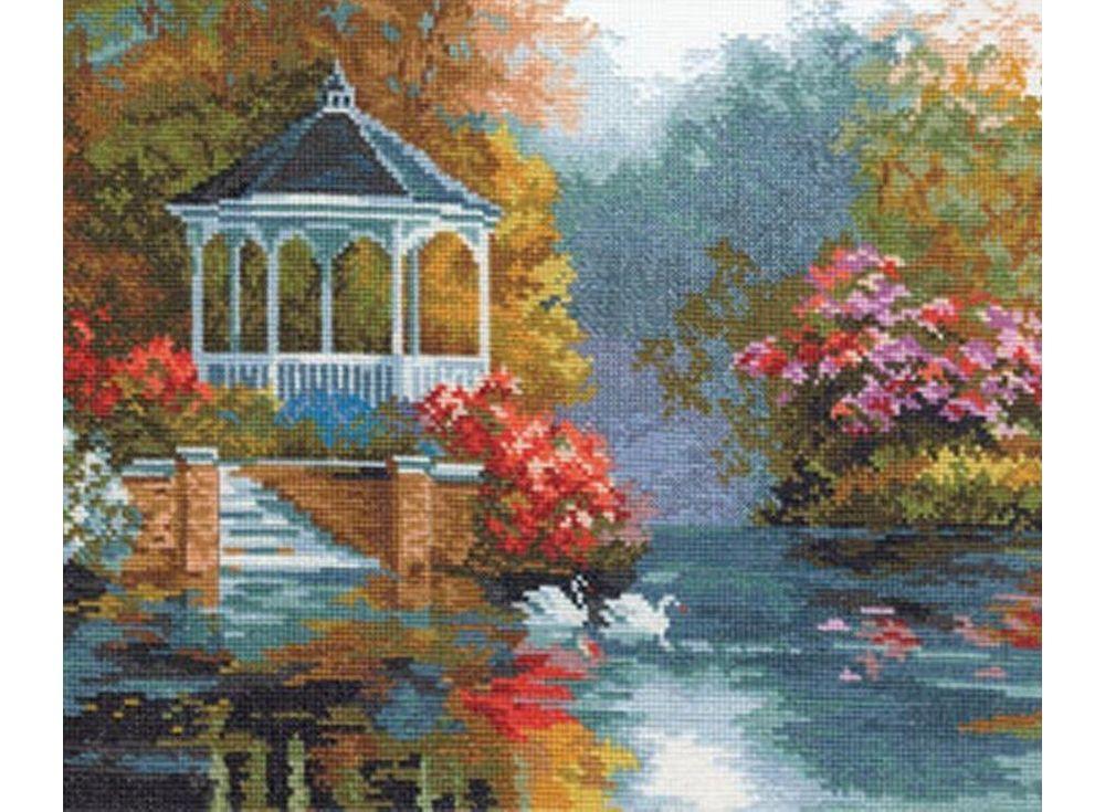 Набор для вышивания «Лебединый рай»Вышивка крестом Алиса<br><br>