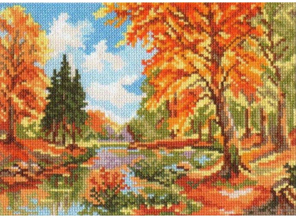Набор для вышивания «Сентябрь в лесу»Вышивка крестом Алиса<br><br><br>Артикул: 3-06<br>Основа: канва Aida 14 100% хлопок Gamma<br>Размер: 22х16 см<br>Тип схемы вышивки: Цветная схема<br>Цвет канвы: Белый<br>Количество цветов: 19<br>Рисунок на канве: не нанесён<br>Нитки: мулине 100% хлопок Gamma
