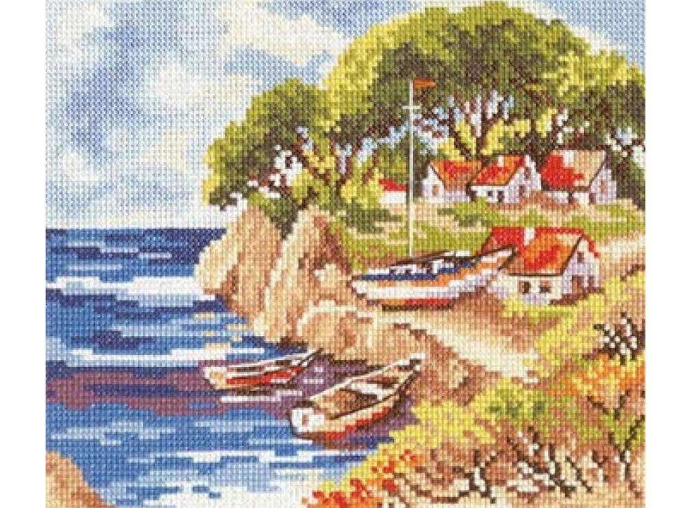 Набор для вышивания «Рыбацкий островок»Вышивка крестом Алиса<br><br><br>Артикул: 3-07<br>Основа: канва Aida 14 100% хлопок Gamma<br>Размер: 20x16 см<br>Тип схемы вышивки: Цветная схема<br>Цвет канвы: Белый<br>Количество цветов: 20<br>Рисунок на канве: не нанесён<br>Техника: Вышивка крестом<br>Нитки: мулине 100% хлопок Gamma