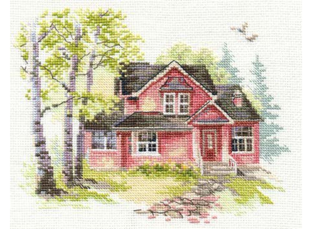 Набор для вышивания «Майский домик»Вышивка крестом Алиса<br><br><br>Артикул: 3-19<br>Основа: канва Aida 16 100% хлопок Gamma<br>Размер: 18х14 см<br>Тип схемы вышивки: Цветная схема<br>Цвет канвы: Белый<br>Количество цветов: 26<br>Рисунок на канве: не нанесён<br>Техника: Вышивка крестом<br>Нитки: мулине 100% хлопок Gamma
