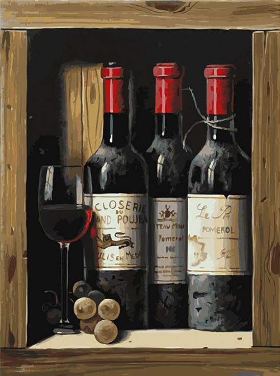 «Коллекционное вино»Картины по номерам Белоснежка<br><br><br>Артикул: 307-AS<br>Основа: Холст<br>Сложность: сложные<br>Размер: 30x40 см<br>Количество цветов: 34<br>Техника рисования: Без смешивания красок