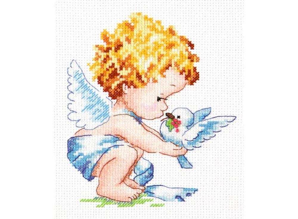 Набор для вышивания «Светлый ангел!»Вышивка крестом Чудесная игла<br><br><br>Артикул: 35-13<br>Основа: канва Aida 14 (хлопок)<br>Сложность: легкие<br>Размер: 12х14 см<br>Техника вышивки: счетный крест<br>Тип схемы вышивки: Цветная схема<br>Цвет канвы: Белый<br>Количество цветов: 19<br>Игла: № 24<br>Рисунок на канве: не нанесён<br>Техника: Вышивка крестом<br>Нитки: мулине 100% хлопок Чудесная игла