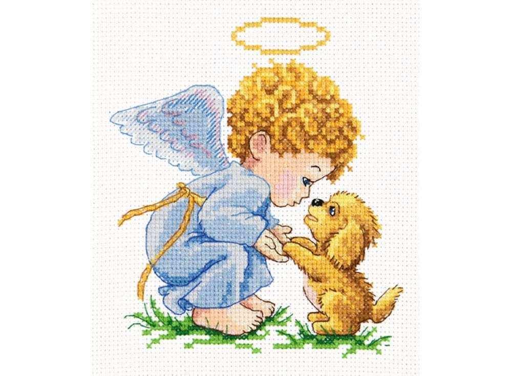 Набор для вышивания «Мой добрый ангел»Вышивка крестом Чудесная игла<br><br><br>Артикул: 35-14<br>Основа: канва Aida 14 (хлопок)<br>Сложность: легкие<br>Размер: 13х14 см<br>Техника вышивки: счетный крест<br>Тип схемы вышивки: Цветная схема<br>Цвет канвы: Белый<br>Количество цветов: 18<br>Игла: № 24<br>Рисунок на канве: не нанесён<br>Техника: Вышивка крестом<br>Нитки: мулине 100% хлопок Чудесная игла