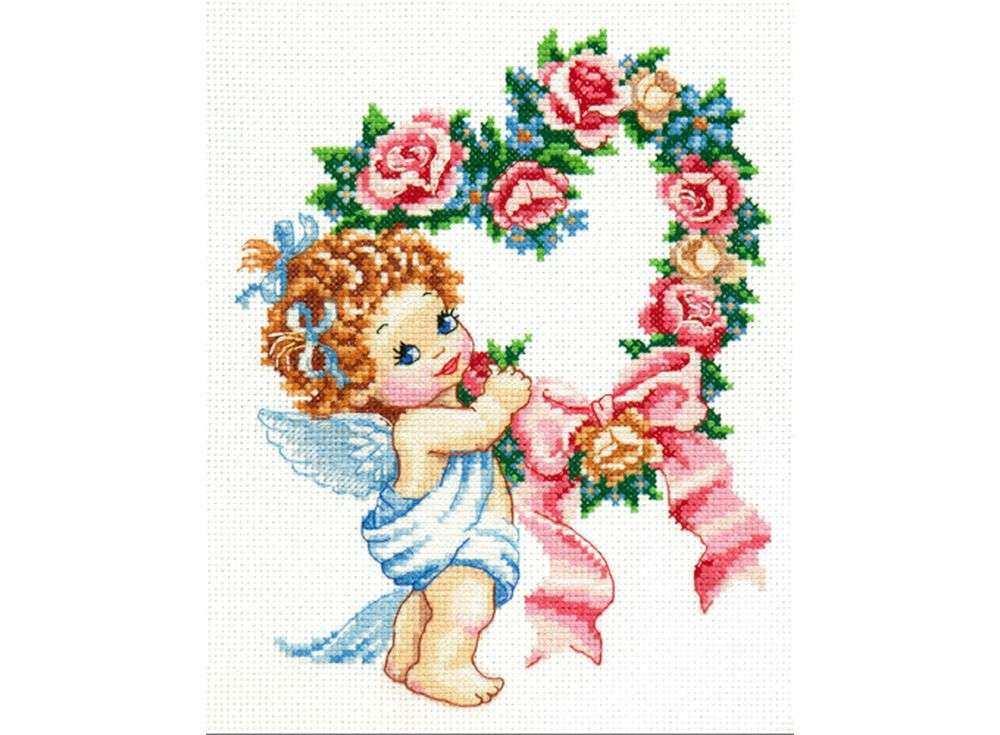 Набор для вышивания «С Днем всех влюбленных!»Вышивка крестом Чудесная игла<br><br><br>Артикул: 35-15<br>Основа: канва Aida 14 (хлопок)<br>Сложность: легкие<br>Размер: 16x21 см<br>Техника вышивки: счетный крест<br>Тип схемы вышивки: Цветная схема<br>Цвет канвы: Белый<br>Количество цветов: 18<br>Игла: № 24<br>Рисунок на канве: не нанесён<br>Техника: Вышивка крестом<br>Нитки: мулине 100% хлопок Gamma