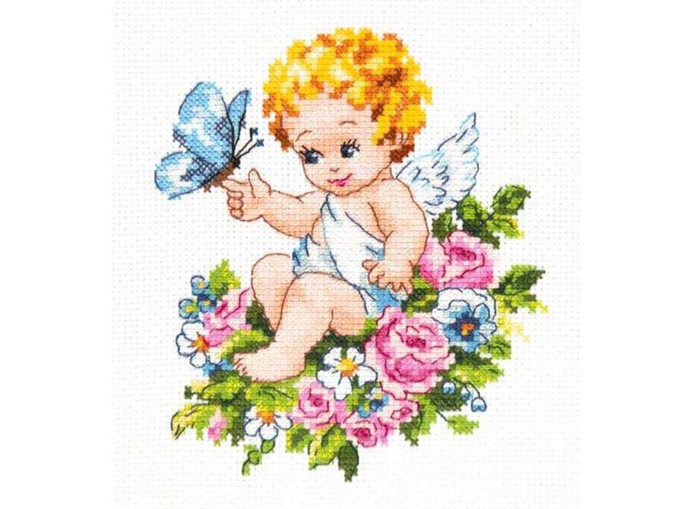 Набор для вышивания «Ангел нашей любви!»Вышивка крестом Чудесная игла<br><br><br>Артикул: 35-19<br>Основа: канва Aida 14 (хлопок)<br>Сложность: средние<br>Размер: 12х15 см<br>Техника вышивки: счетный крест<br>Тип схемы вышивки: Цветная схема<br>Цвет канвы: Белый<br>Количество цветов: 21<br>Игла: № 24<br>Рисунок на канве: не нанесён<br>Техника: Вышивка крестом<br>Нитки: мулине 100% хлопок Gamma