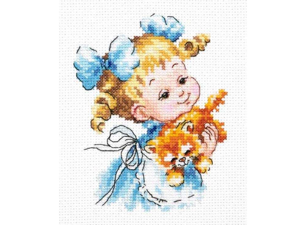 Набор для вышивания «Ты мой маленький!»Вышивка крестом Чудесная игла<br><br><br>Артикул: 35-20<br>Основа: канва Aida 14 (хлопок)<br>Сложность: легкие<br>Размер: 10х13 см<br>Техника вышивки: счетный крест<br>Тип схемы вышивки: Цветная схема<br>Цвет канвы: Белый<br>Количество цветов: 19<br>Игла: № 24<br>Рисунок на канве: не нанесён<br>Техника: Вышивка крестом<br>Нитки: мулине 100% хлопок Чудесная игла