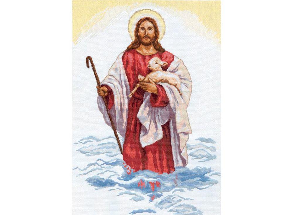 Набор для вышивания «Христос»Вышивка крестом Алиса<br><br><br>Артикул: 4-03<br>Основа: канва Aida 14 100% хлопок Gamma<br>Размер: 32х45 см<br>Тип схемы вышивки: Цветная схема<br>Цвет канвы: Белый<br>Количество цветов: 23<br>Рисунок на канве: не нанесён<br>Нитки: мулине 100% хлопок Gamma