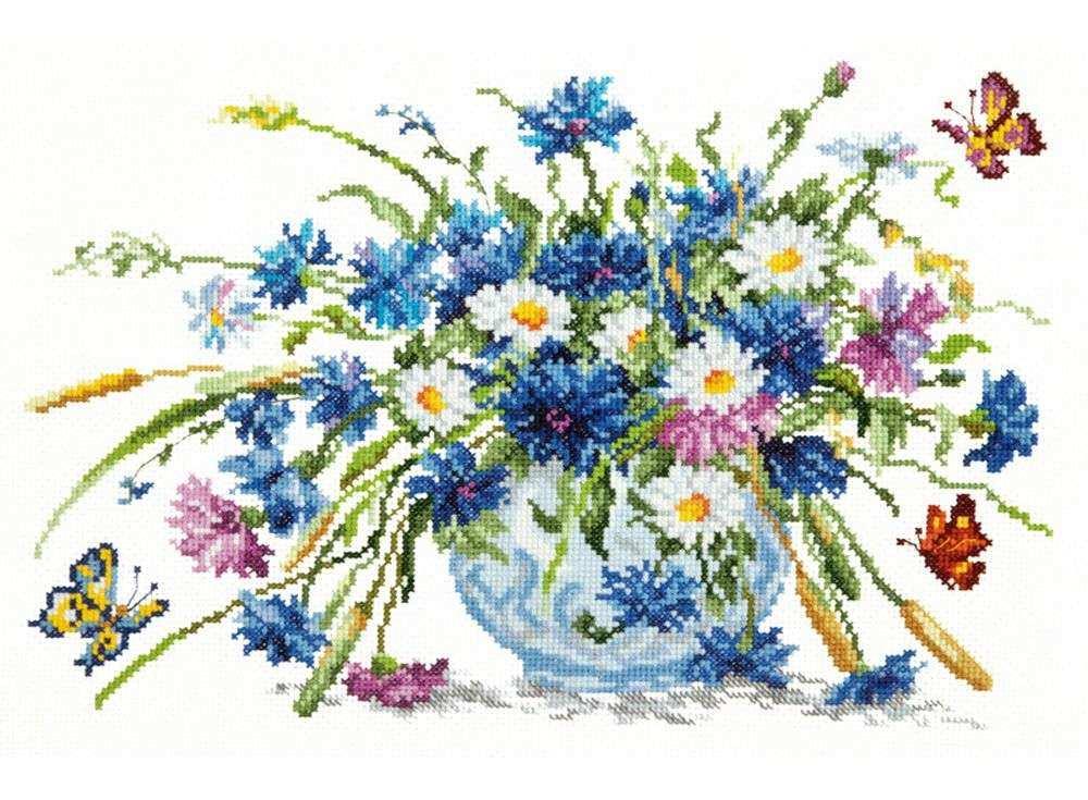 Вышивка крестиком цветы фото