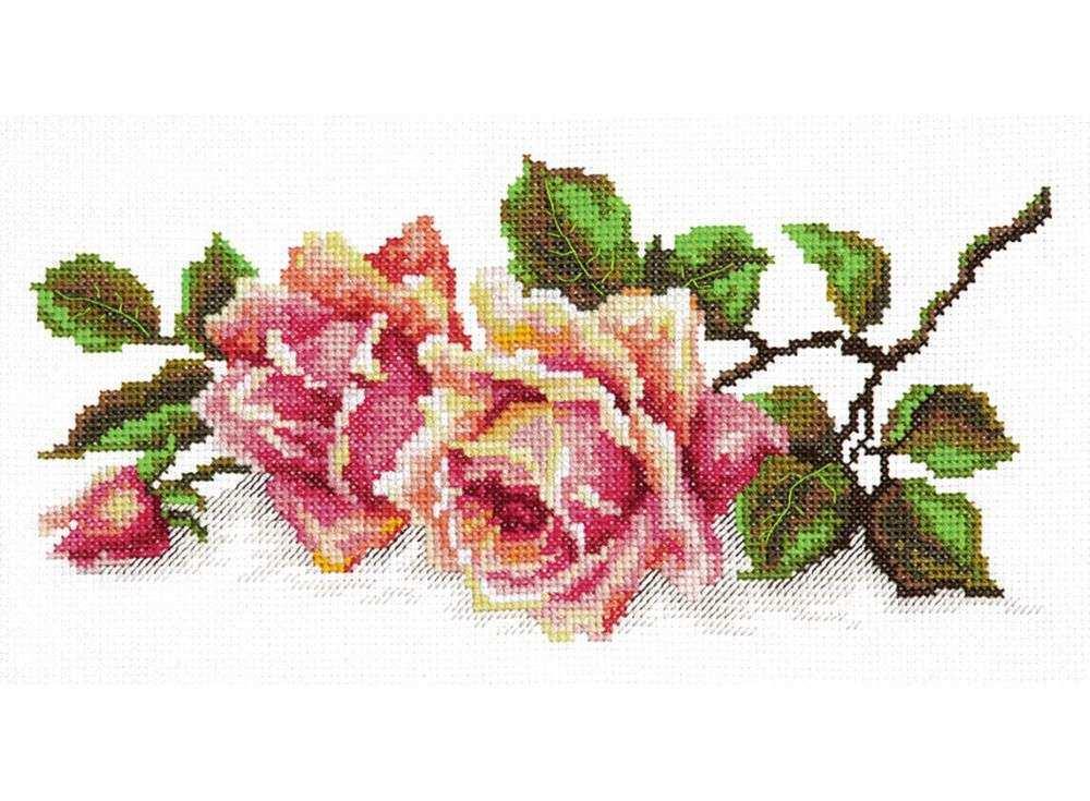 Набор для вышивания «Аромат розы»Вышивка крестом Чудесная игла<br><br><br>Артикул: 40-48<br>Основа: канва Aida 14 (хлопок)<br>Сложность: легкие<br>Размер: 25х12 см<br>Техника вышивки: счетный крест<br>Тип схемы вышивки: Цветная схема<br>Цвет канвы: Белый<br>Количество цветов: 26<br>Игла: № 24<br>Рисунок на канве: не нанесён<br>Техника: Вышивка крестом<br>Нитки: мулине 100% хлопок Gamma
