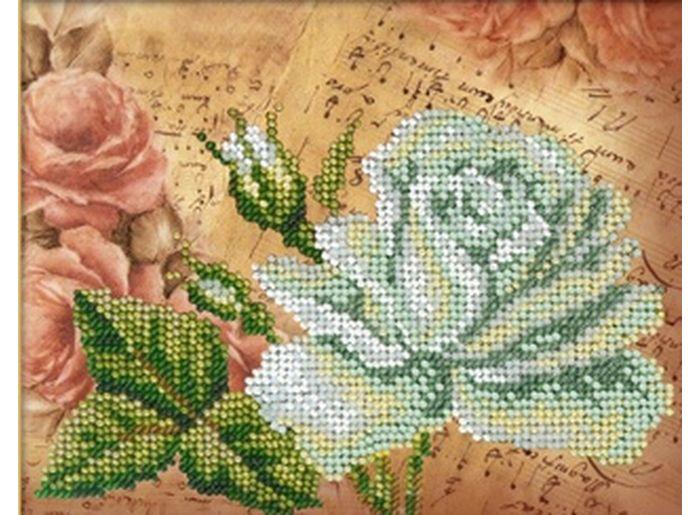 Набор вышивки бисером «Бела роза»Вышивка бисером Русска искусница<br><br><br>Артикул: 404n<br>Основа: ткань (хлопок 35%, полистер 65%)<br>Размер: 16,4х13,1 см<br>Техника вышивки: бисер<br>Тип схемы вышивки: Цветна схема<br>Заполнение: Частичное<br>Рисунок на канве: нанесён рисунок и схема<br>Техника: Вышивка бисером