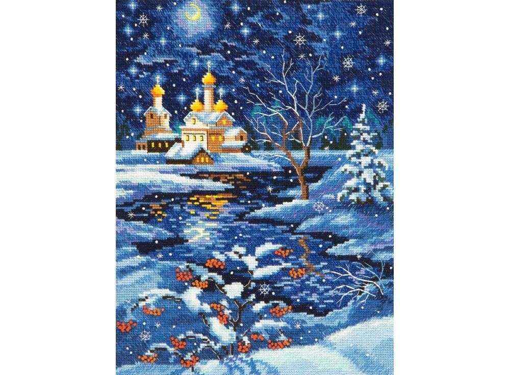 Набор для вышивания «Рождество»Вышивка крестом Чудесная игла<br><br><br>Артикул: 45-07<br>Основа: канва Aida 16 (хлопок)<br>Сложность: сложные<br>Размер: 19х25 см<br>Техника вышивки: счетный крест<br>Тип схемы вышивки: Цветная схема<br>Цвет канвы: Белый<br>Количество цветов: 27<br>Игла: № 24<br>Рисунок на канве: не нанесён<br>Техника: Вышивка крестом<br>Нитки: мулине 100% хлопок Чудесная игла
