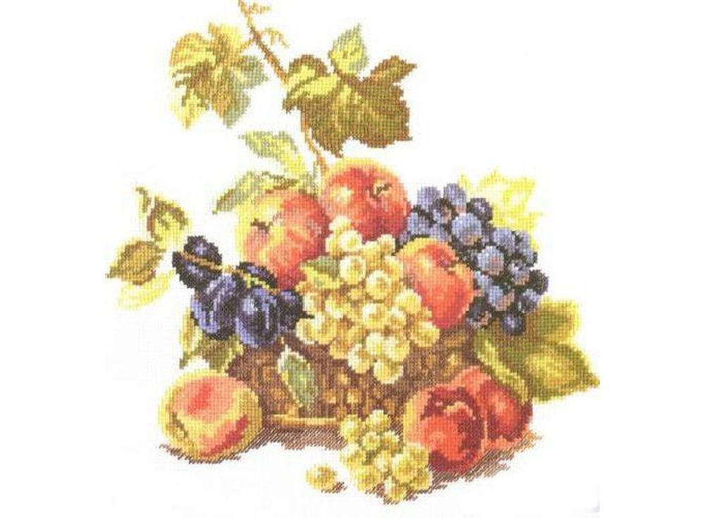 Набор для вышивания «Яблоки и виноград»Вышивка крестом Алиса<br><br><br>Артикул: 5-04<br>Основа: канва Aida 14 100% хлопок Gamma<br>Размер: 25х25 см<br>Тип схемы вышивки: Цветная схема<br>Цвет канвы: Белый<br>Количество цветов: 23<br>Рисунок на канве: не нанесён<br>Техника: Вышивка крестом<br>Нитки: мулине 100% хлопок Gamma