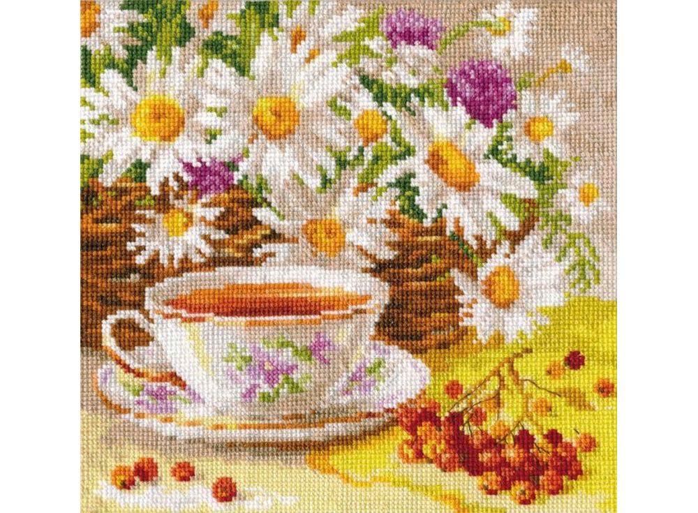 Набор для вышивания «Полуденный чай»Вышивка крестом Алиса<br><br><br>Артикул: 5-13<br>Основа: канва Aida 16 100% хлопок Gamma<br>Размер: 18x18 см<br>Тип схемы вышивки: Цветная схема<br>Цвет канвы: Белый<br>Количество цветов: 31<br>Рисунок на канве: не нанесён<br>Техника: Вышивка крестом<br>Нитки: мулине 100% хлопок Gamma