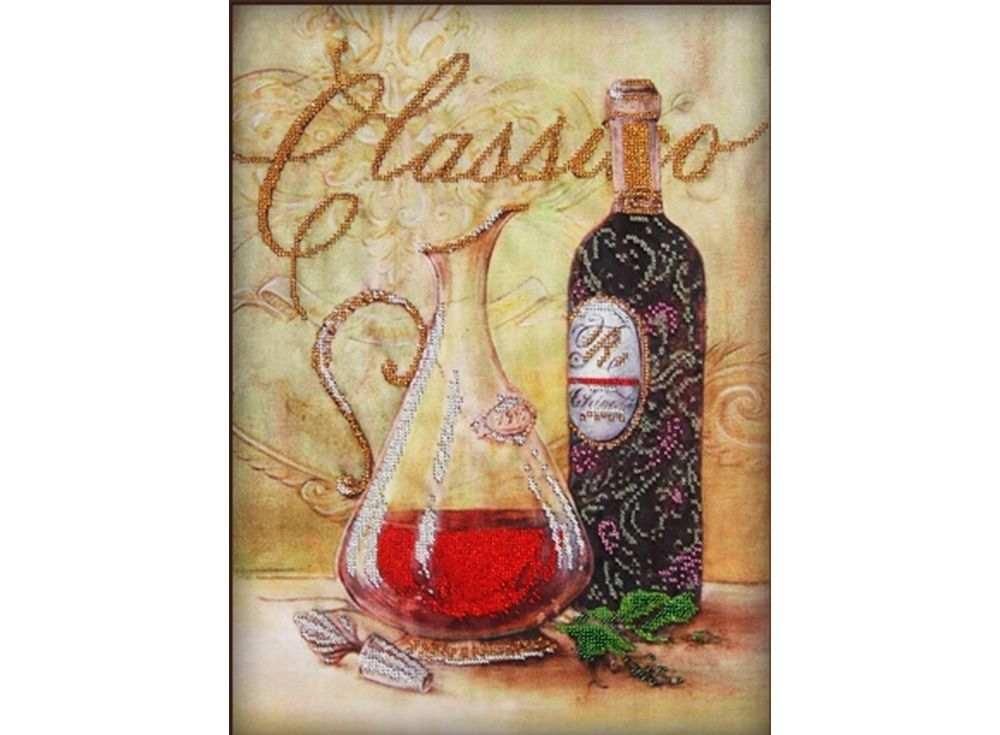 Набор вышивки бисером «Графин и вино»Вышивка бисером Астрея (Глурия)<br><br><br>Артикул: 50114<br>Основа: габардин<br>Размер: 30х40 см<br>Техника вышивки: бисер<br>Тип схемы вышивки: Цветная схема<br>Количество цветов: 7<br>Заполнение: Частичное<br>Рисунок на канве: нанесён рисунок и схема<br>Техника: Вышивка бисером