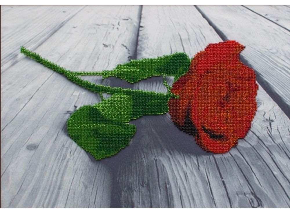 Набор вышивки бисером «Красная роза»Вышивка бисером Астрея (Глурия)<br><br><br>Артикул: 50204<br>Основа: габардин<br>Размер: 40x30 см<br>Техника вышивки: бисер<br>Тип схемы вышивки: Цветная схема<br>Количество цветов: 8<br>Заполнение: Частичное<br>Рисунок на канве: нанесён рисунок и схема<br>Техника: Вышивка бисером